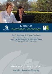 8pp MIT Flyer final - International - Macquarie University