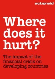 The impact of the financial crisis on developing countries - ActionAid