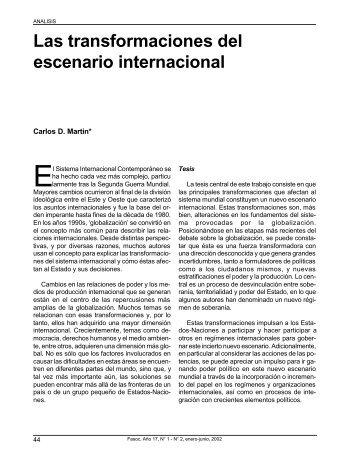 Las transformaciones del escenario internacional - Revista Fuerzas ...