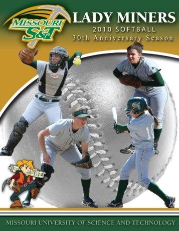 2010 Softball Media Guide - Missouri S&T Athletics