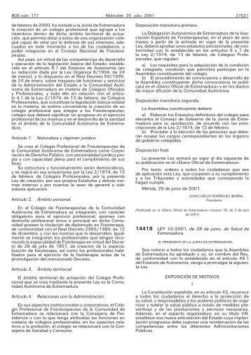 Ley 10/2001 - BOE.es