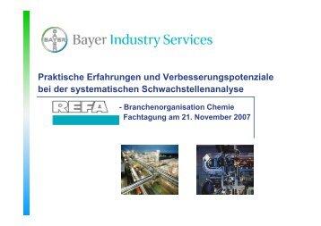 Praktische Erfahrungen und ... - Refa-chemie.de