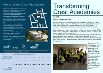 Transforming Crest Academies - Wates