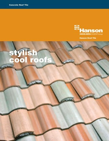 stylish cool roofs - Hanson Roof Tile