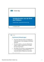 Referat Joachim Eder - Psychische Gesundheit Zug