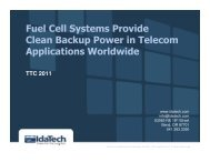 Fuel Cell Systems Provide Clean Backup Power in Telecom ...