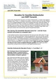 7.10 Bausätze für Holzbacköfen von HART Kurz-Info ... - Hart-Keramik
