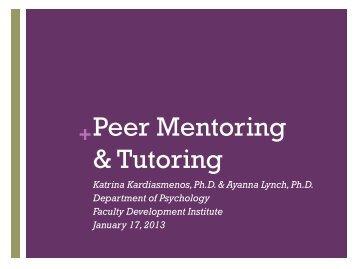 Peer Mentoring & Tutoring - Bowie State University
