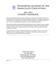 final 11-12 student handbook - Oldenburg Academy