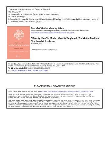 muslim minority.pdf - Bangladesh Online Research Network