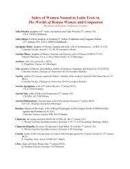 Women in the Readings