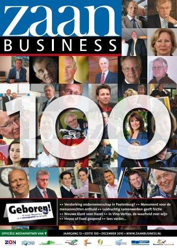 100>> Versterking ondernemerschap in Poelenburg ... - Zaanbusiness