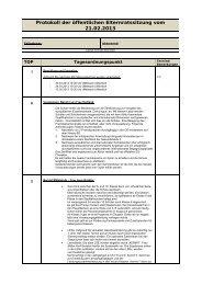 Protokoll der öffentlichen Elternratssitzung vom 21.02.2013