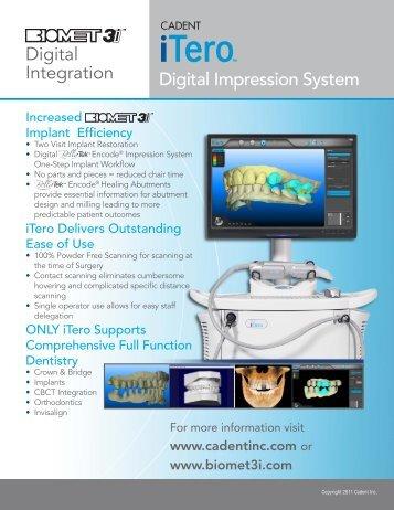 Digital Impression System Digital Integration - Biomet 3i