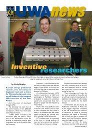 11 Sept: Vol 25, #13 - UWA News staff magazine - The University of ...
