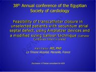 38th Annual conference of the Egyptian Society ... - cardioegypt2011