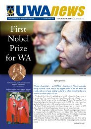 17 Oct: Vol 24, #16 - UWA News staff magazine - The University of ...