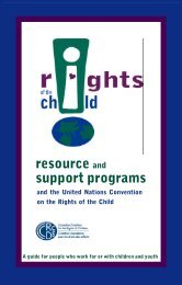 Resource Guide - Canadian Coalition for the Rights of Children