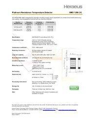 Platinum Resistance Temperature Detector SMD 1206 (V) - Heraeus ...