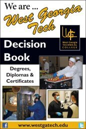 Decision Book 12-13.indd - West Georgia Technical College