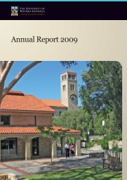 Annual Report 2009 - Publications Unit - The University of Western ...