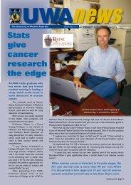 27 Mar: Vol 25, #2 - UWA News staff magazine - The University of ...