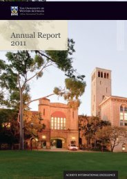 Annual Report 2011 - Publications Unit - The University of Western ...