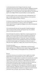L'unité de Bioindustries (Prof. Philippe Thonart) de la ... - Doctorat