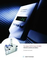 The Agilent 5975C Series GC/MSD - Department of Chemistry and ...