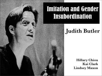 Imitation and Gender Insubordination