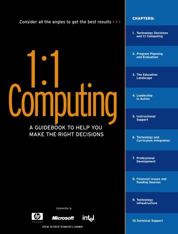A GUIDEBOOK TO HELP YOU MAKE THE RIGHT ... - TechLearning