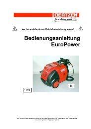 Bedienungsanleitung EuroPower - von Oertzen GmbH
