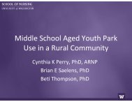 Middle School Aged Youth Park Use in a Rural Community