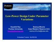 Low-Power Design Under Parameter Variations - islped
