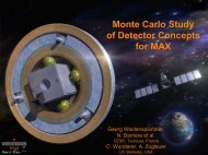 Monte Carlo Study of Detector Concepts for MAX - Cesr