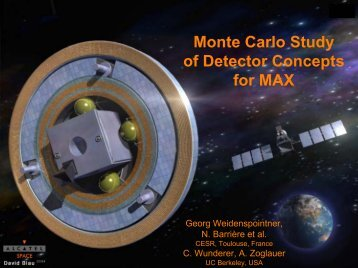Monte Carlo Study of Detector Concepts for MAX - Cesr