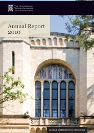 Annual Report 2010 - Publications Unit - The University of Western ...