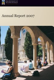 Annual Report 2007 - Publications Unit - The University of Western ...