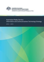 APS ICT Strategy 2012 - Australian Government Information and ...