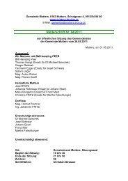 Protokoll vom 26. Mai 2011 (160 KB) - .PDF - Mutters - Land Tirol