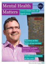 MHM April 2013 - West London Mental Health NHS Trust