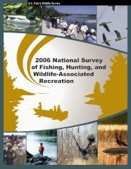 2006 National Survey of Fishing, Hunting, and Wildlife-Associated ...