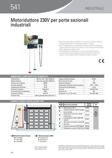 Motoriduttore 230V per porte sezionali industriali - Faac