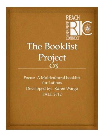 Latino Booklist by Karen Wargo for Grades 1-3.pdf - RITELL