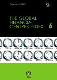 THE GLOBAL FINANCIAL CENTRES INDEX - Z/Yen