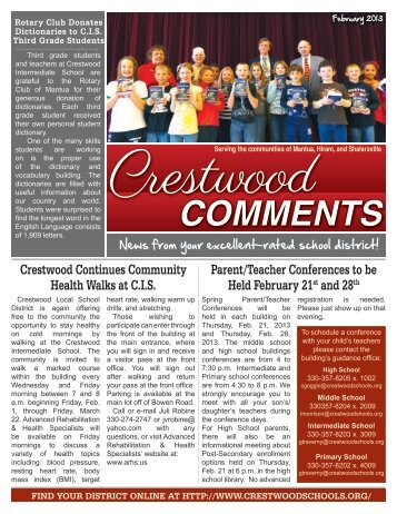 February 2013 - Crestwood Local School District