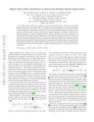 Higher Order Collins Modulations in Transversely Polarized Quark ...