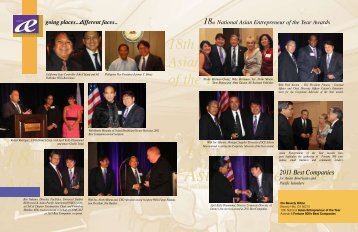 18th National Asian Entrepreneur of the Year Awards - US Asia ...