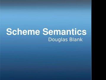 Scheme Semantics