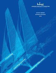 Le rapport d'activité 2010 du LHC - Lausanne Hospitality Consulting